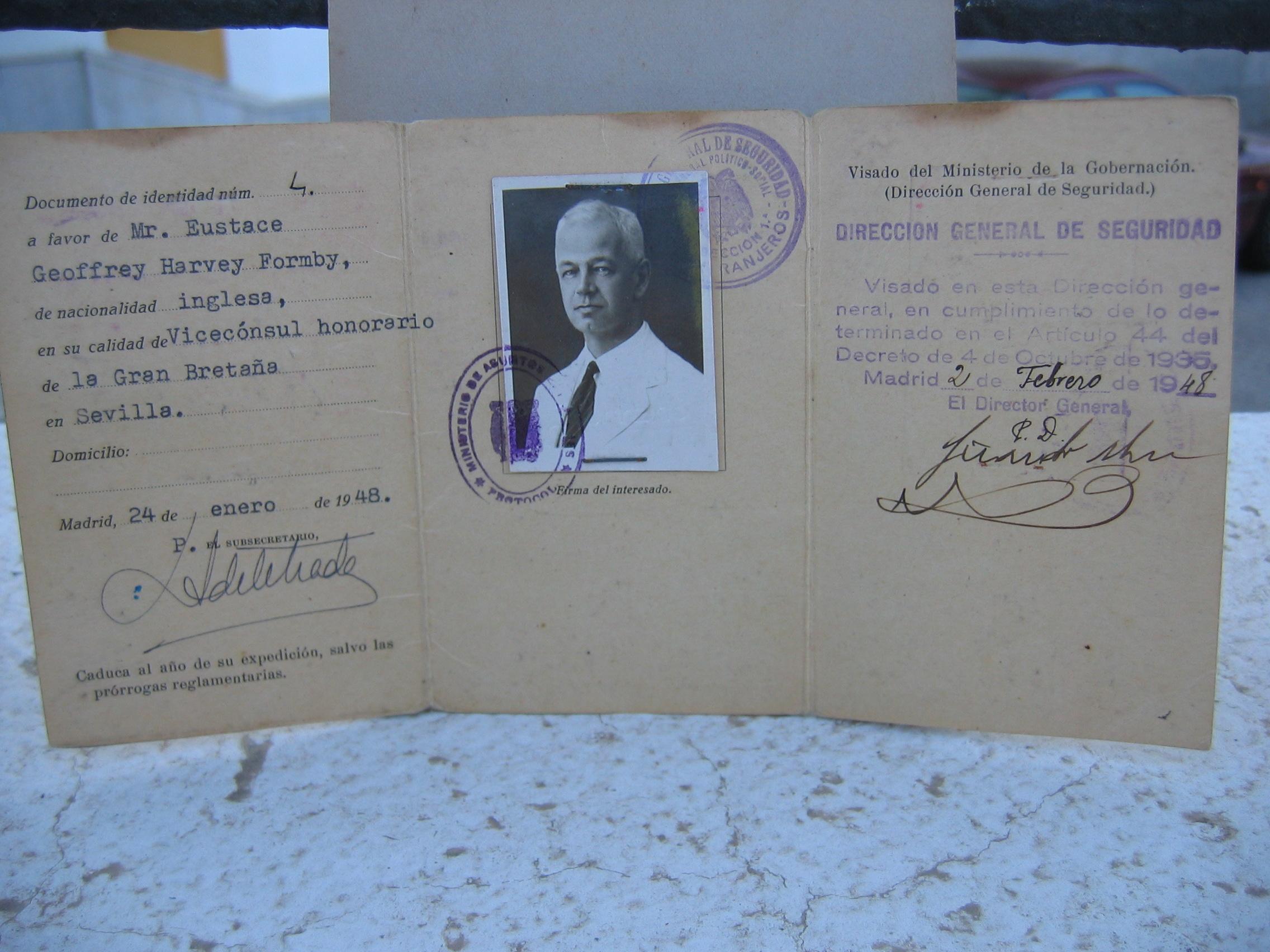 Eustace Formby, Vice-Consul, Great Britain