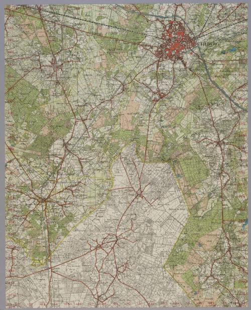Map of Tilburg to Weelde, 50 Breda Oost 1938