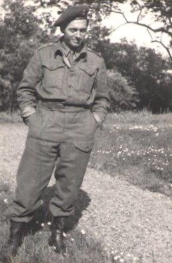 "Dignus ""Dick"" Kragt photo taken after Liberation, provided by his sister Carina Lindley"