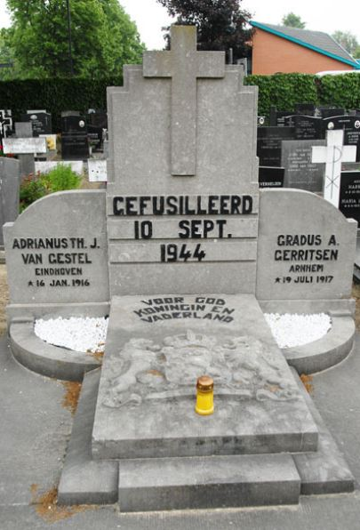 Memorial to Gerritsen and Van Gestel snipped photo