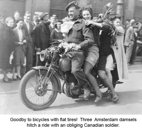 Dutch girls on Canadian Motorcycle-3