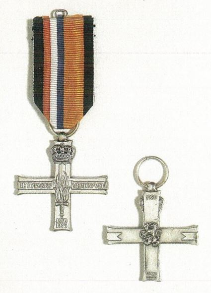 Verzetsherdenkingskruis (Resistance Memorial Cross) from document from Dutch Embassy